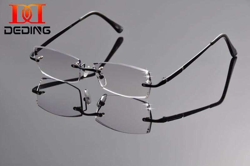 Deding moda Gafas con claro Objetivos Gafas para leer hombres diopter nerd  rimless ojo Gafas miopía prescripción Gafas dd1262 bc6f5df061