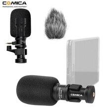 Micro pour Smartphone Comica CVM VS08 Mini micro de téléphone vidéo directionnel cardioïde pour Smartphone iPhone Android (avec coupe vent)