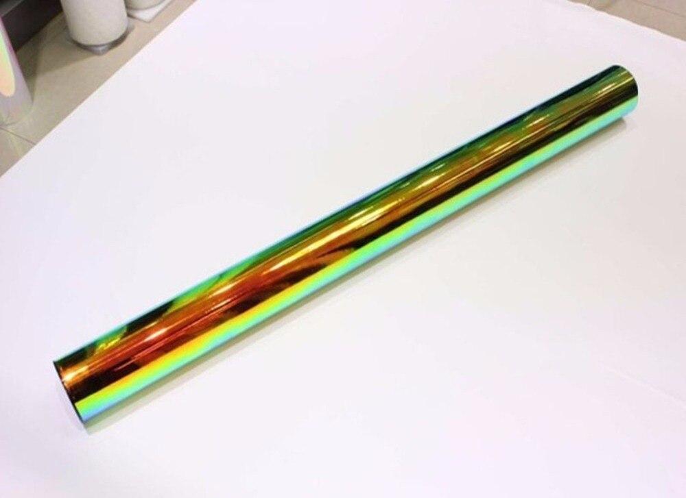 1,38x0,5 м глянцевый хром Радужный голографический пленочный Радужный виниловый автомобильный пленочный лист высокого качества