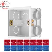 Socket Base Outfit Junction Box Surface Mount Bottom Box Wall Switch Socket Universal  Installation box White