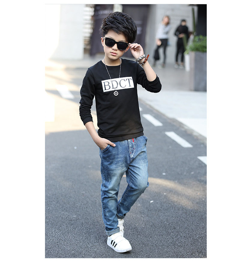 fashion casual pink green black striped o-neck t shirt for boys long sleeve t shirt kids boy tee tops clothes new 2017 spring autumn teenage boys clothing 6 7 8 9 10 11 12 13 14 15 16 years old little teenage big boys t shirt long sleeve (8)