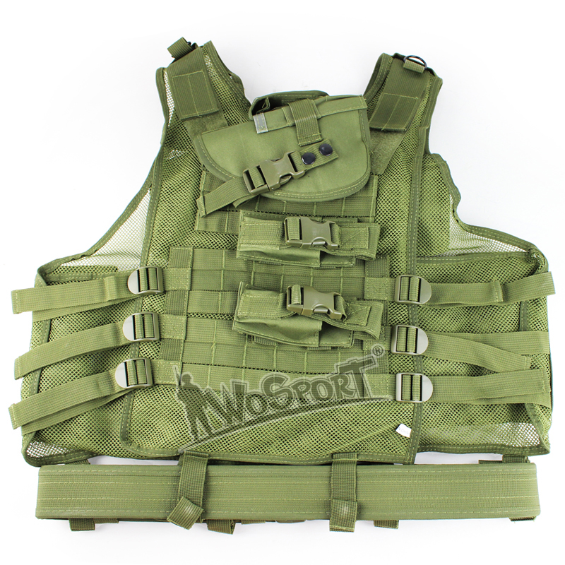 WoSporT Tactical   Wargame Vest Protective Safety Clothing Hunting Combat Vest Outdoor Training Mesh Waistcoat