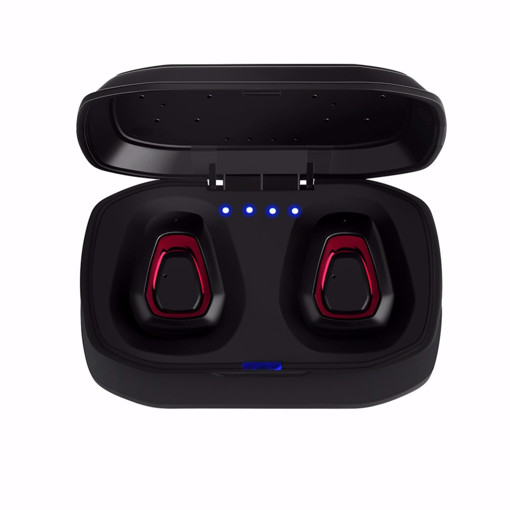 Portable A7 Bluetooth 4.2 Hifi Earphone with Dual Mic TWS Wireless Earbuds Stereo Microphone for Phone With Charger Box Headset slimy microphone stereo wireless headset mini twins bluetooth handsfree headset tws earphone with battery box earbuds stock