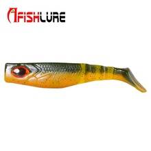 3pcs/lot  Bicolor T Tail Soft Fish 6.5g/88mm Soft Bait Fish Shad Manual Silicone Bass Minnow Bait Swim baits Minnow Plastic Lure