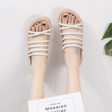2019 Gladiator Women Sandals Platform Flat Sandals White/Black/Pink Spring/Summer Female Shoes Casual Lady Shoes Woman Footwear цена и фото