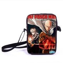 Anime ONE PUNCH MANN Mini Umhängetasche Jungen Mädchen Schule taschen Charakter Saitama Täglichen Crossbody Tasche Kinder Beste Geschenk Taschen Bookbag