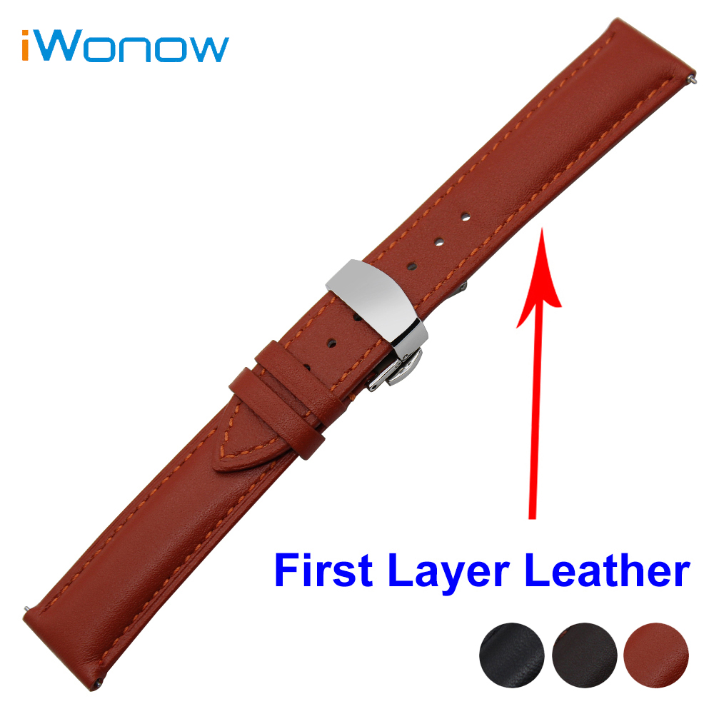 Cowhide Genuine Leather Watch Band 22mm for Samsung Gear S3 Classic / Frontier Quick Release Strap Wrist Belt Bracelet france genuine leather watchband for samsung gear s3 classic frontier r760 770 double color watch band quick release wrist strap