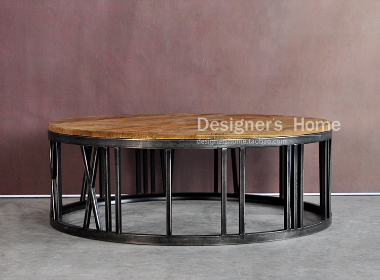american country wrought iron wood furniture retro roman numerals round coffee table coffee table coffee table ideas