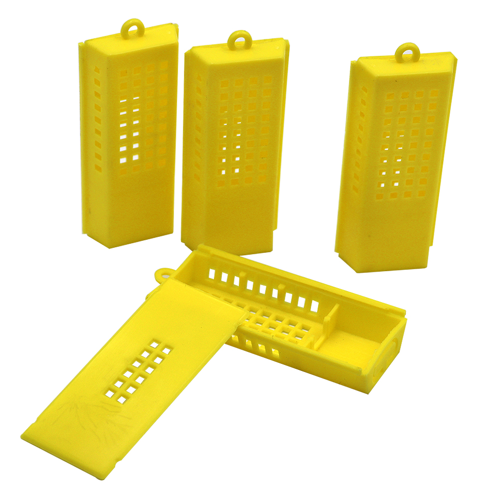 4PCS Beekeeping Tools Queen Bee Cage Cell Plastic Tool Turnover Push Post Transport Plastic Prisoner Bees Tools