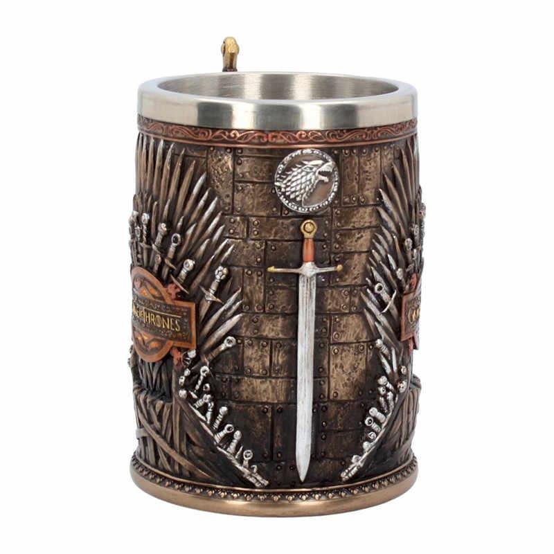 Game of Thrones Iron Throne Tankard Coffee Mugs Stainless Steel Resin Cups and Mugs Creative Drinkware Mark