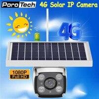 DHL Free Wireless GSM 4G SIM Card Solar Powered IP Camera Built in battery HD 1080P Waterproof Outdoor Security CCTV Camera YN88