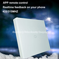 Geeklink UK type 1 Gang Light Switch Wall Touch Feedback Switch Intelligent Remote Control by IOS Android with Thinker Remotebox