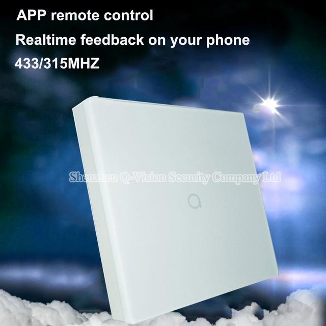 Geeklink retroalimentación tipo reino unido 1 gang táctil de pared interruptor de la luz interruptor de control remoto inteligente by ios android con pensador remotebox