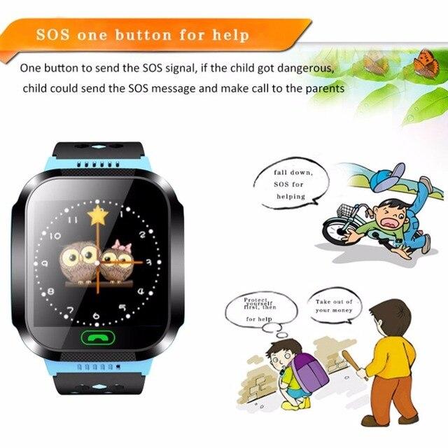 Smart Watch Kids Wristwatch Touch Screen GPRS Locator Tracker Anti-Lost Smartwatch Baby Watch With Remote Camera SIM Calls 4