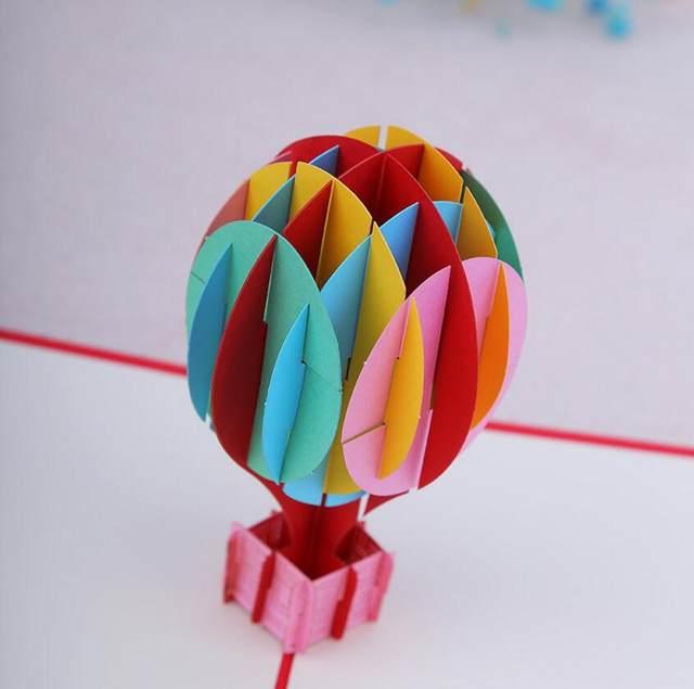 Online Shop 10pcs 3d Creative Hot Air Balloon Handmade Kirigami