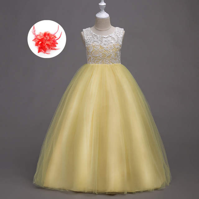 01f8bead573 Children Long Dresses Evening Party Clothes 5 To 14 Years Old Wedding Kids  Dresses for Girls