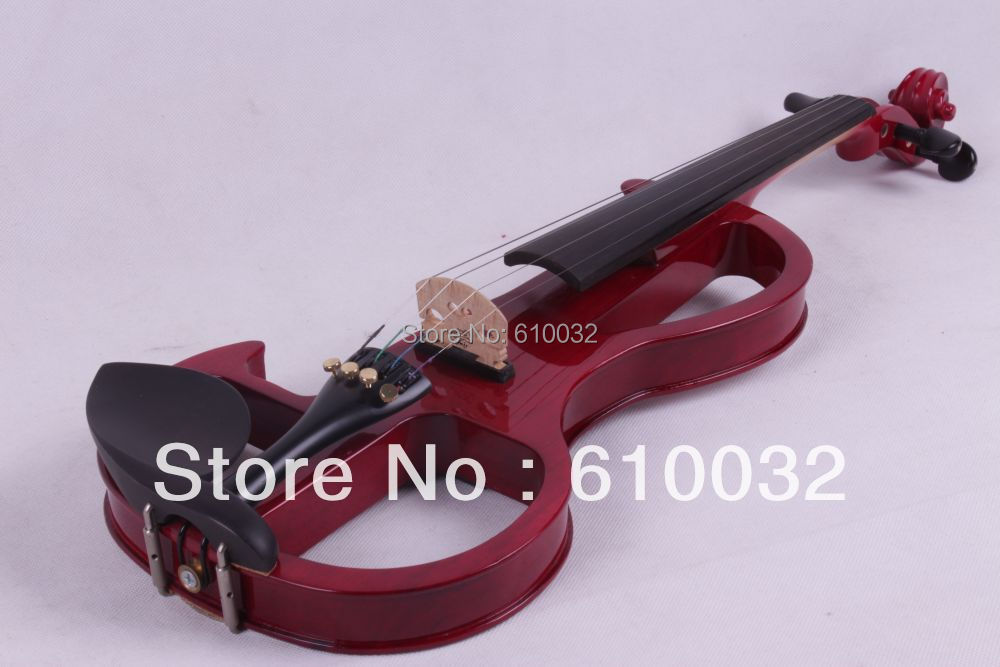 red  4/4 4 String Electric Violin Solid wood hand style 2-5 # 4