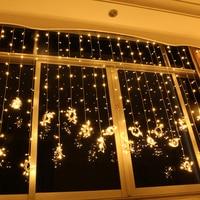 Праздничные огни Рождество Свадебные фон водонепроницаемый открытый занавес светодиодные огни строки 10 м * 2 м