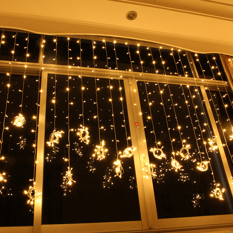 Holiday lights Christmas wedding background waterproof curtain outdoor lights led string ...