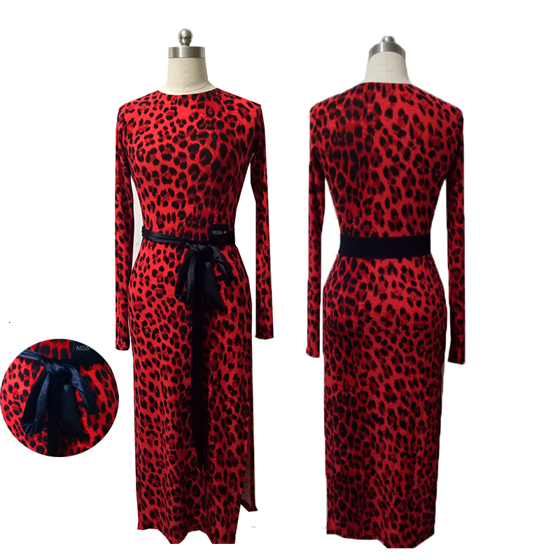 New Latin Dance Dress Sexy Costumes Leopard Clothes For Salsa Tango Dress Performance Clothing Net Yarn Long Sleeve DN1332