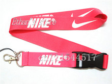 Men Sport Logo Key Lanyard  Pink ID  Badge Holders Mobile Phone Neck Straps Lots