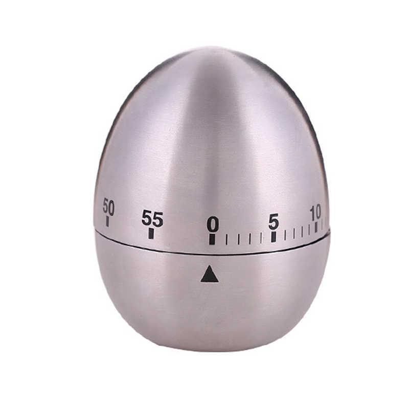 Oeuf mécanique minuterie de cuisine minuterie de cuisson alarme 60 Minutes en acier inoxydable outils de cuisine Gadgets de cuisine compte à rebours cloche de cuisine