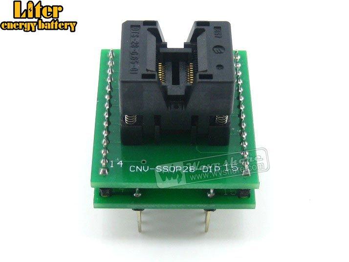 SSOP20 TO DIP20(A) TSSOP20 IC Test Socket Programming Adapter 4.4Width 0.65Pitch