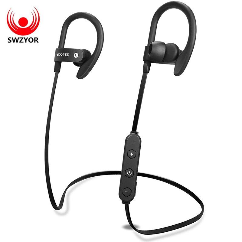 SWZYOR LY-Sport Bluetooth Cuffia SweatProof Auricolare Ear-Hook Auricolare Bass Auricolare Esecuzione Auricolari Senza Fili audifonos
