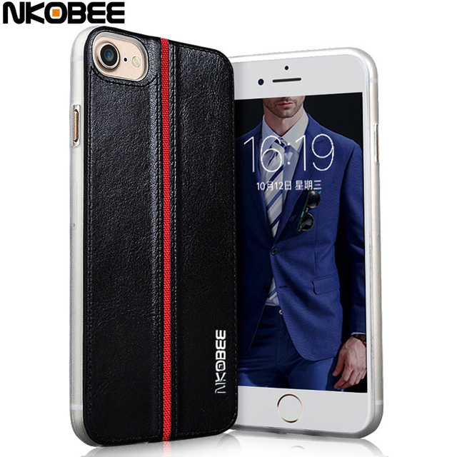 NKOBEE Luxury Leather Back Cover Case For iPhone 7