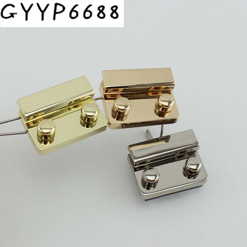 10sets Hight Quality Pushed Snap Lock 53*37mm Press Lock For Replacement Your Bag,Lock For Repair Your Suitcase Bags Hardware