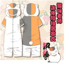 2017 Anime Natsume's Book of Friends Cat Teacher  Costume Siamese short sleeve Homewear friends teacher s book 1