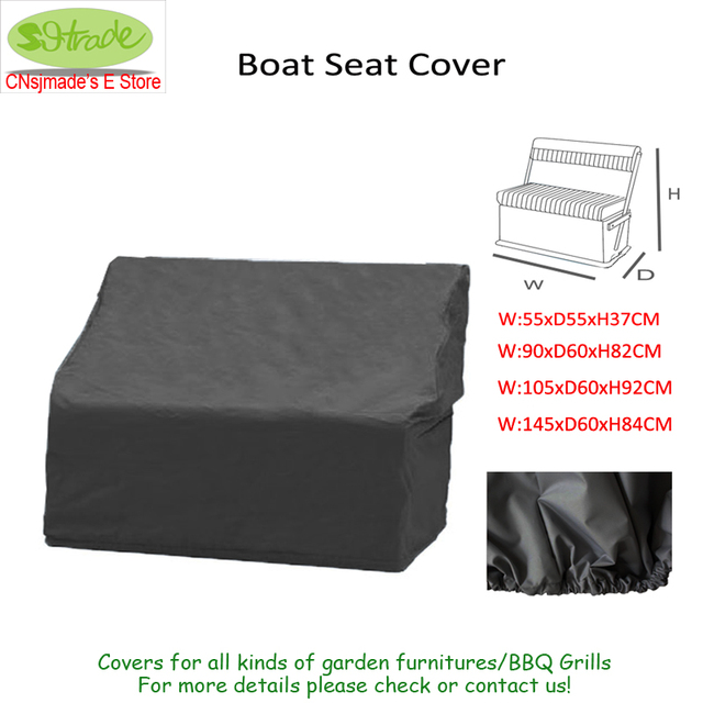 Boat Fishing Seat Cover Elastic Closure Black Color Waterproofed Customized Furniture Covers New Arrival