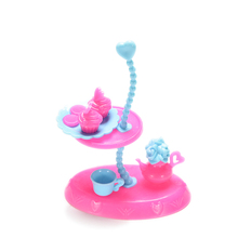 furniture accessories 4pcsset plastic kitchenware dessert tray kettle cup tray for barbie kitchen furniture doll food girl toy