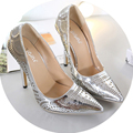 Spring summer New Fashion Star Pointed Toe Solid High Heels Shoes Nightclub Women's Pumps Thin Heels Slip on Shoes
