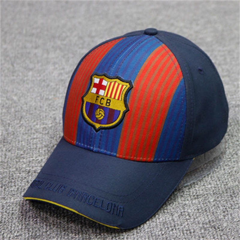 d8cc24b50 Fc Barcelona Soccer Club Unisex Adjustable Snapback Hat Sandwich Baseball  Cap C-0033