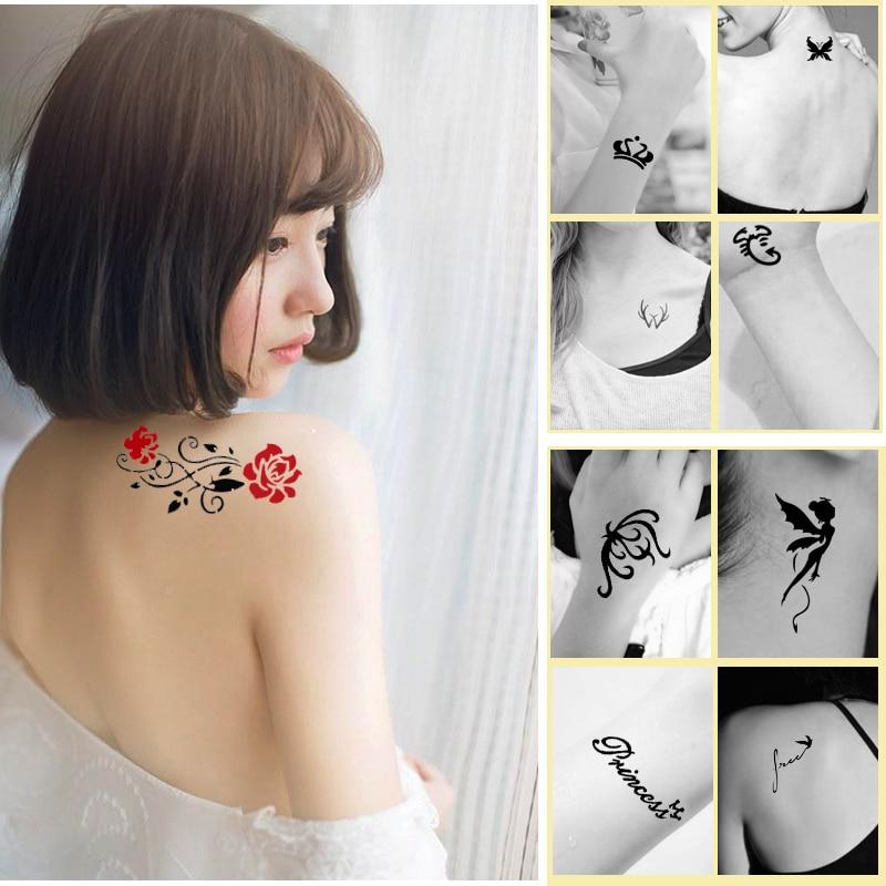446st / Lot återanvändbar klistermärke Tattoo Stencils Folder, - Tatuering och kroppskonst - Foto 6