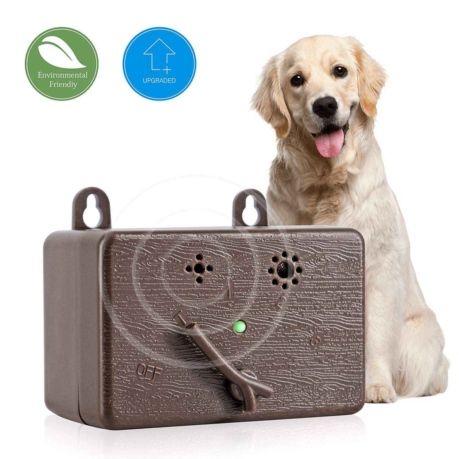 Ultrasonic Dog Bark Controller Outdoor Anti Barking Device Sonic Bark  Deterrents Stop Dog Barking Device Dog Silencer Dog