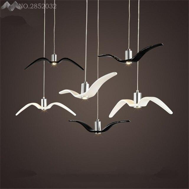Aliexpress buy jwnordic post modern simple seagull pendant jwnordic post modern simple seagull pendant lamp resin hanging light bar restaurant cafe living room mozeypictures Images