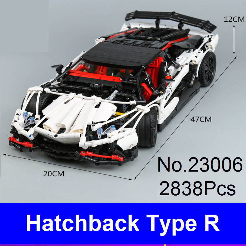 New LEPIN Technic Series 23006 Genuine The Hatchback Type R Racing Car Set Building Blocks Bricks Educational Toys For Children new lepin 21009 632pcs genuine creative series the out of print 1 17 racing car set building blocks bricks toys