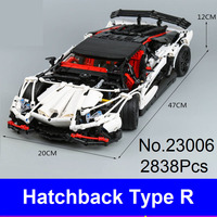 New LEPIN Technic Series 23006 Genuine The Hatchback Type R Racing Car Set Building Blocks Bricks