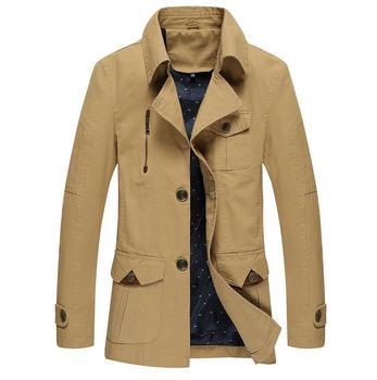 Pop High Quality Men Fashion Casual Jacket Windproof Coat Big Yards