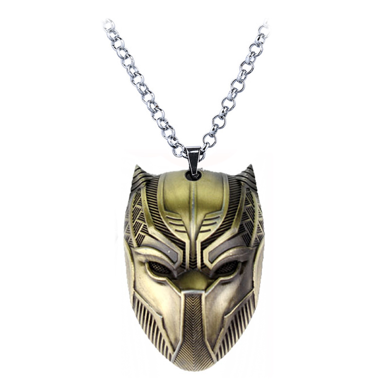 US $0 52 20% OFF|SG New Silver Gold Black Panther VK T'Challa Men Rope  Chain Necklace Punk Wakanda Map Life Tree Pendant Charms Boys Keyring  Gift-in