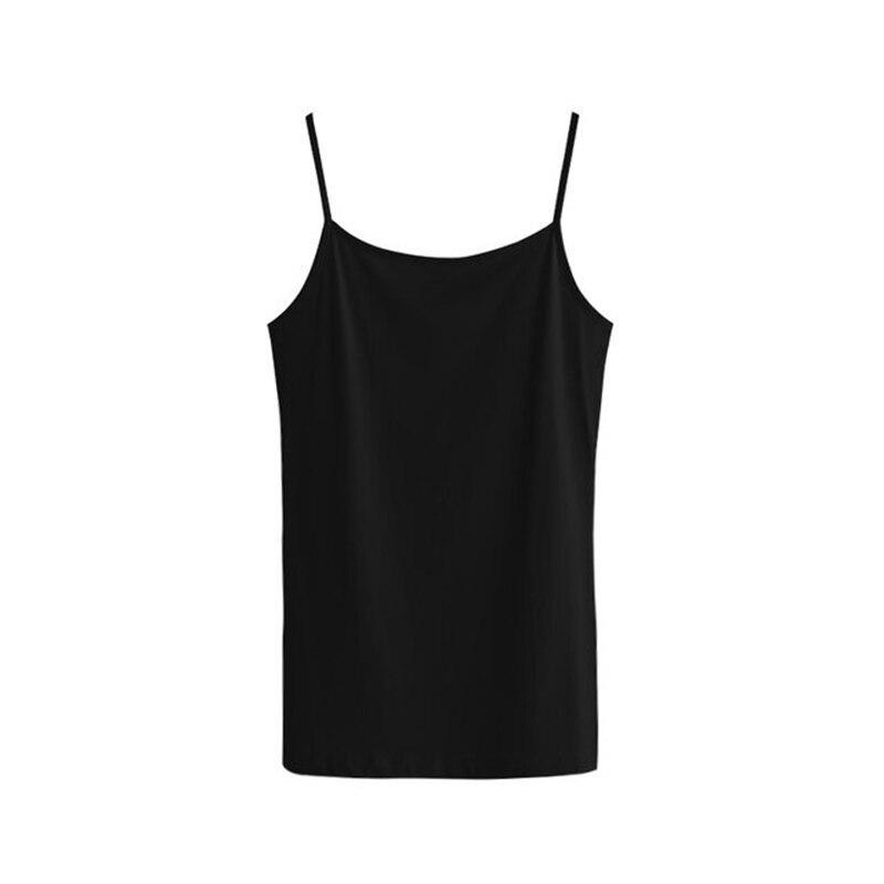 Ladies Tank Tops Black White Solid Cotton Fashion Regular Type Women Tops