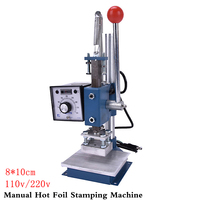 1Set Manual Hot Foil Stamping Machine Foil Stamper Leather Printer Marking Press Embossing Machine 8x10cm 110V