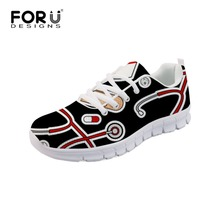 FORUDESIGNS Black Nursing Flats Women Casual Shoes Breathable Women Summer Mesh Walking Shoes Fashion Comfortable Lady Sneakers forudesigns light comfortable mesh shoes for women flats breathable mesh shoes woman pretty leaf printed women s sneakers mujer