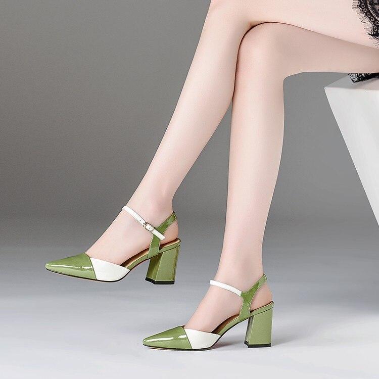 Ankle Neue Kleid Trense Schuhe Gr 2018 Lackleder Heels Sandalen Sommer {zorssar} Damen Teil Tops vmNn0y8Ow
