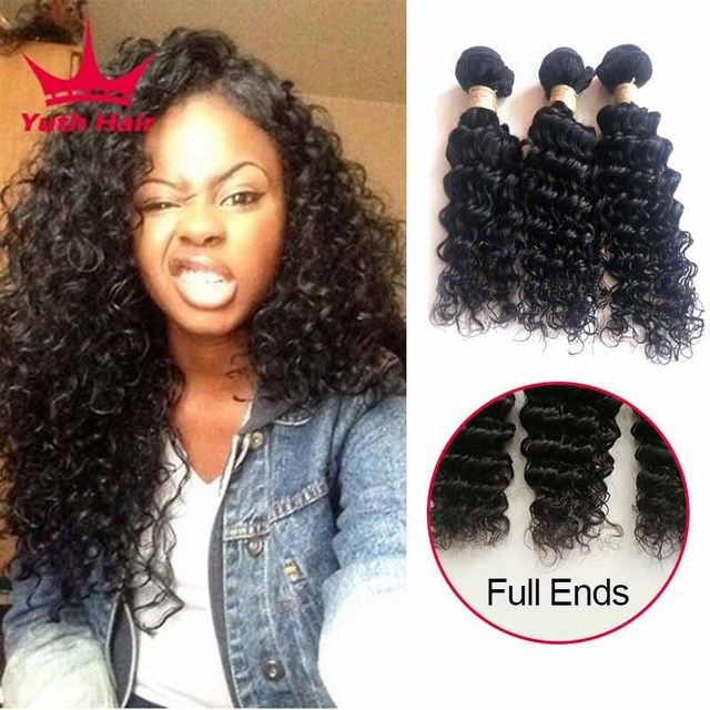 8a Indian Deep Wave 3 Bundles Indian Deep Curly Virgin Hair Raw