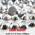 Cristal Piedras 288 unids Labrador ss30 6.3-6.5mm de Color No Hot Fix Loose Strass Piedras Para El Arte Del Clavo Diy Decoración de La Reservación del Desecho
