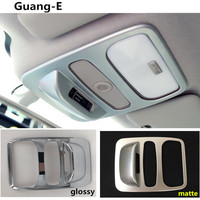 Car Styling Cover Stick ABS Chrome Head Read Front Reading Light Lamp Trim Hoods 1pcs For