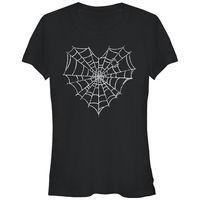 Fashion Brand Clothing Cute T Shirts Lost Gods Halloween Heart Spider Web Juniors Graphic T Shirt